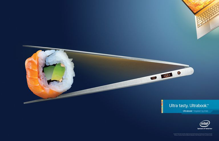 Intel Ultrabook Ad Showcasing Thin Profile
