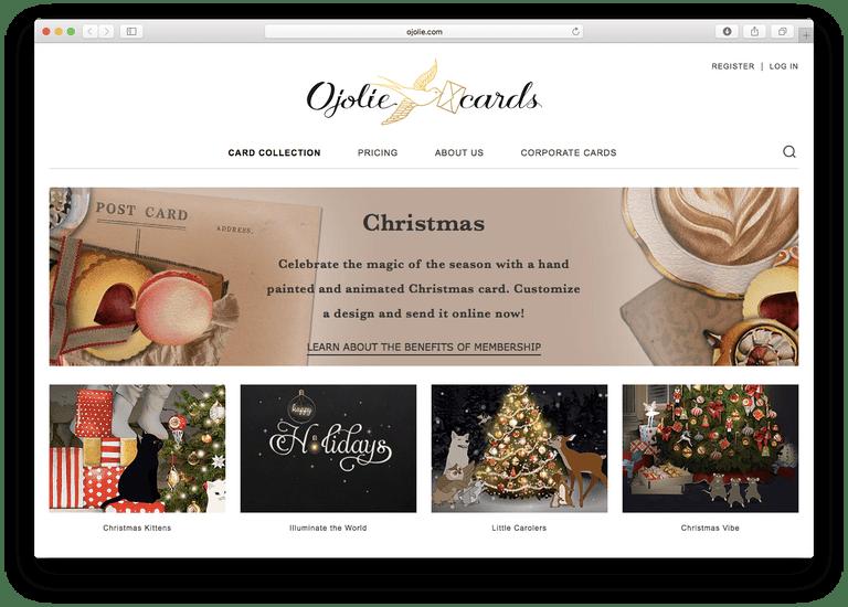 The best christmas e card sites ojolie christmas e cards reheart Choice Image