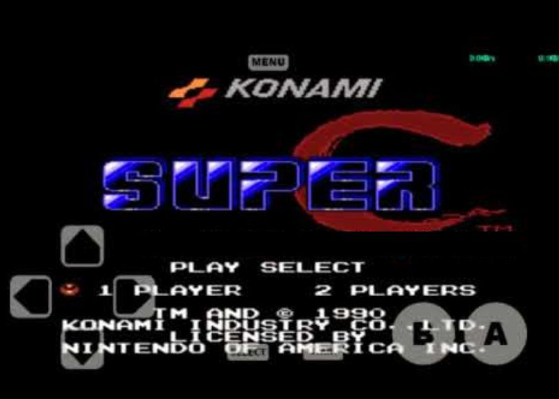 Super C for NES running on the Retro 8 emulator for Android