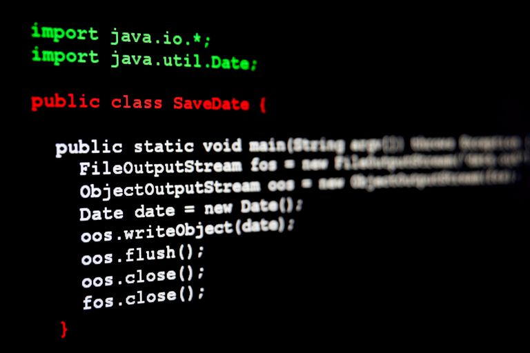 A screenshot of some Java code.