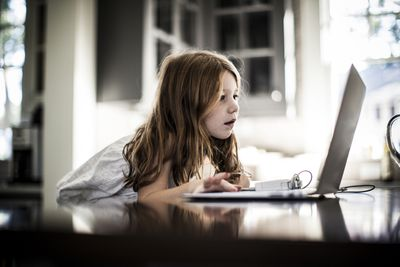 Girl Using MacBook