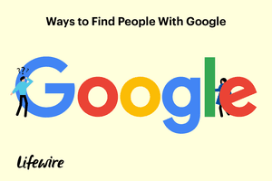An illustration of someone search for a person using Google.