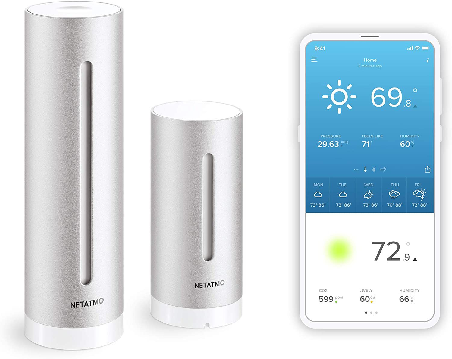 The Netatmo Weather station will tell you the weather.