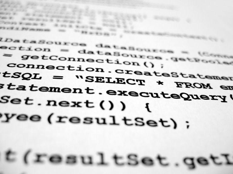 Close up of computer code