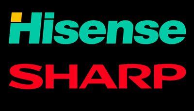 Hisense and Sharp logos