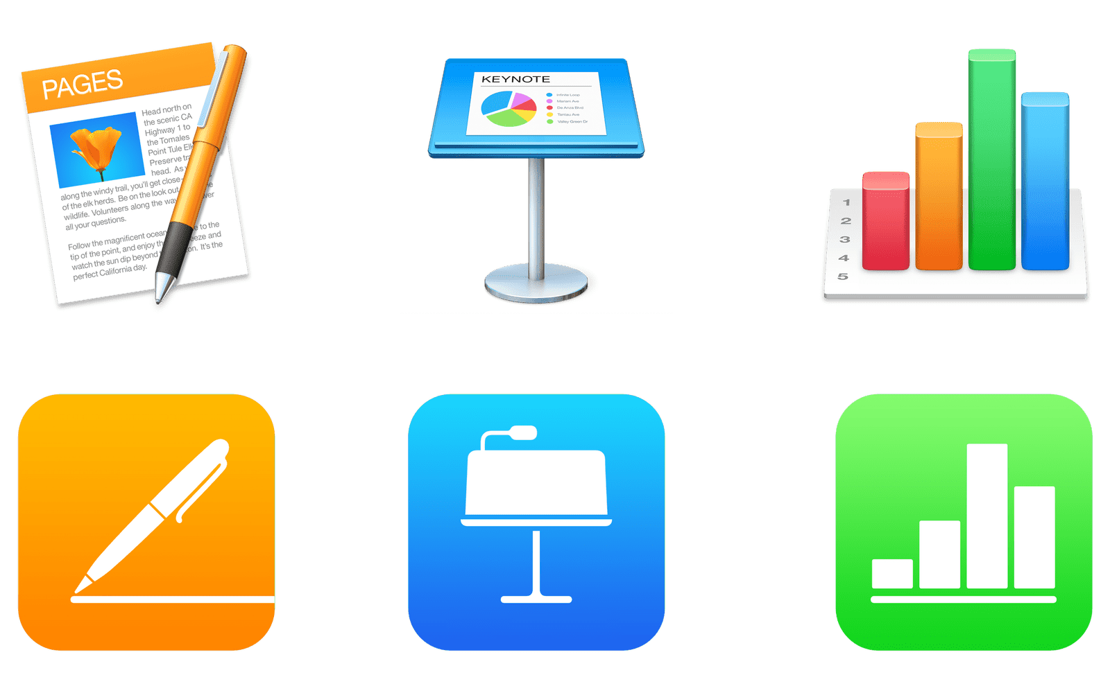 The iWork suite logo