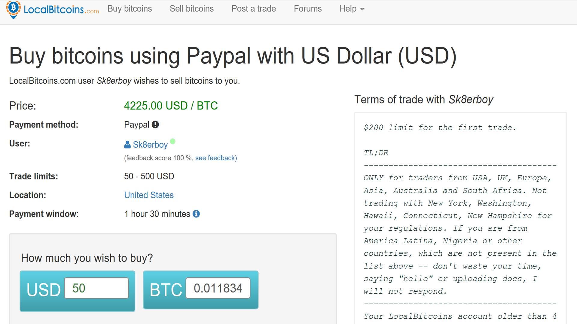 buy and send bitcoin