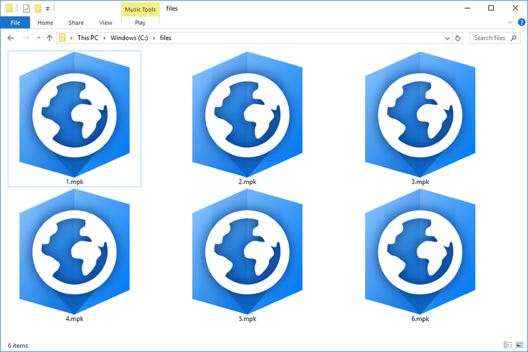 Screenshot of several MPK files in Windows 10 that open with ArcGIS Pro