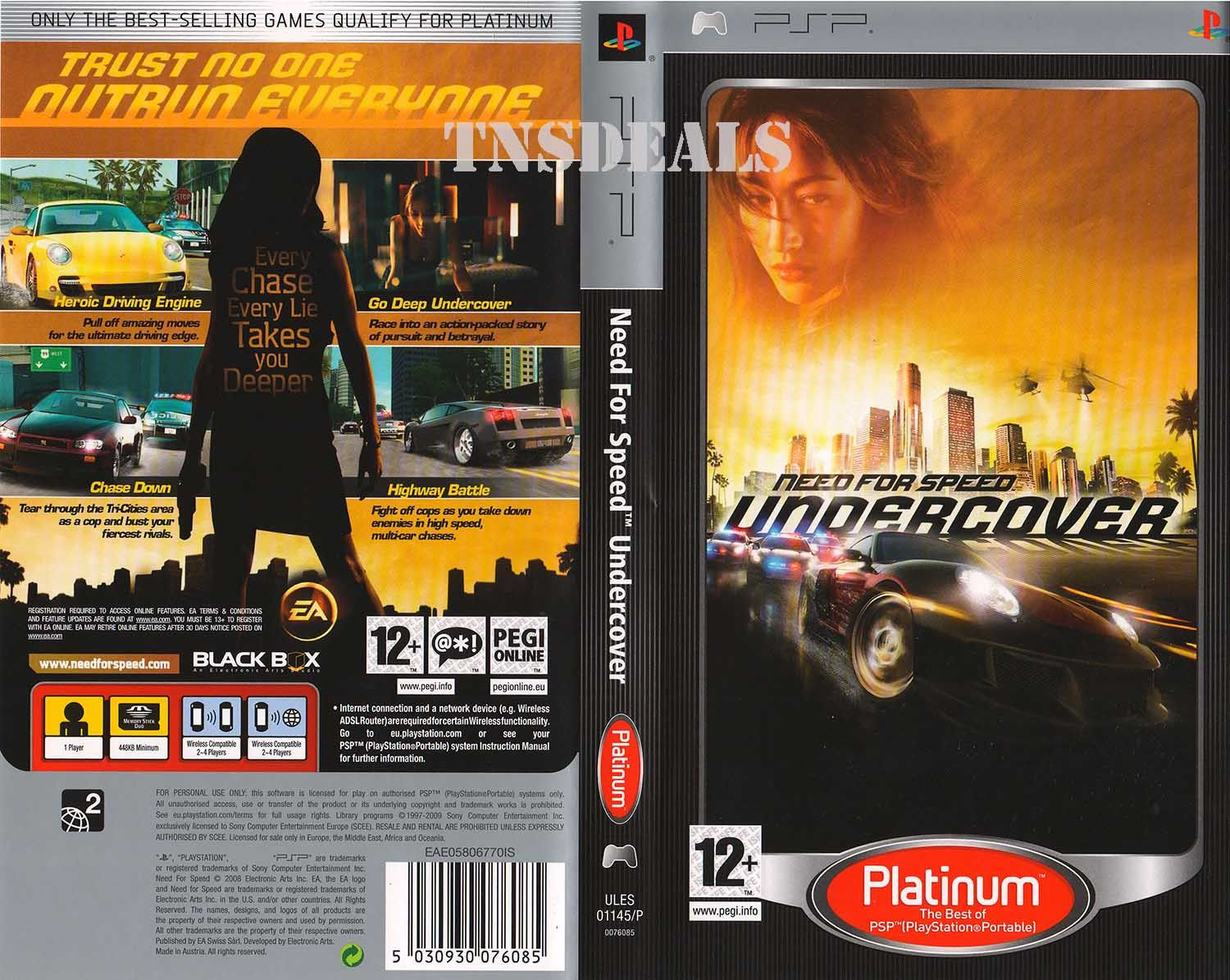 """""""Need For Speed Undercover"""" Cheats and Unlocks - Sony PSP"""