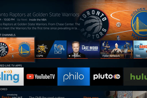 Amazon Fire TV's Live tab with Sling, YouTube TV, Hulu, and more