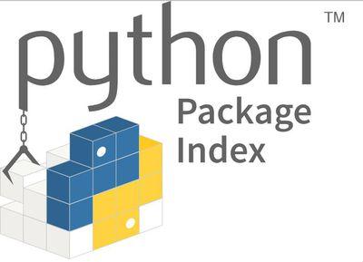 Logo for the Python Package Index (PyPI)