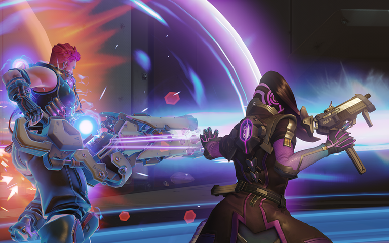 A screenshot from the Blizzard game, Overwatch.