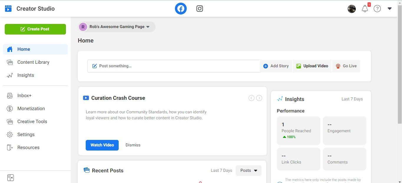 Upload and Create Post in Facebook Creator Studio