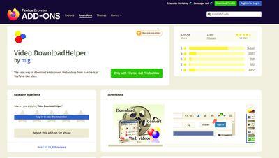 Video DownloadHelper for Firefox