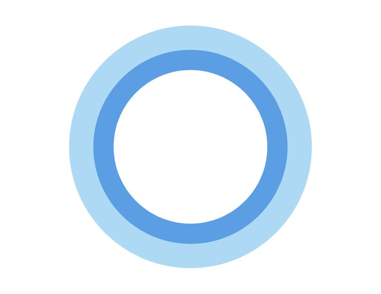 Cortana icon or symbol - blu circle