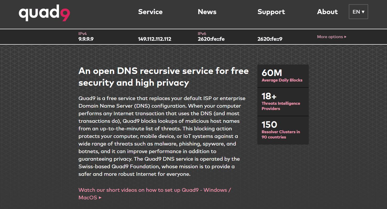 Quad9 website