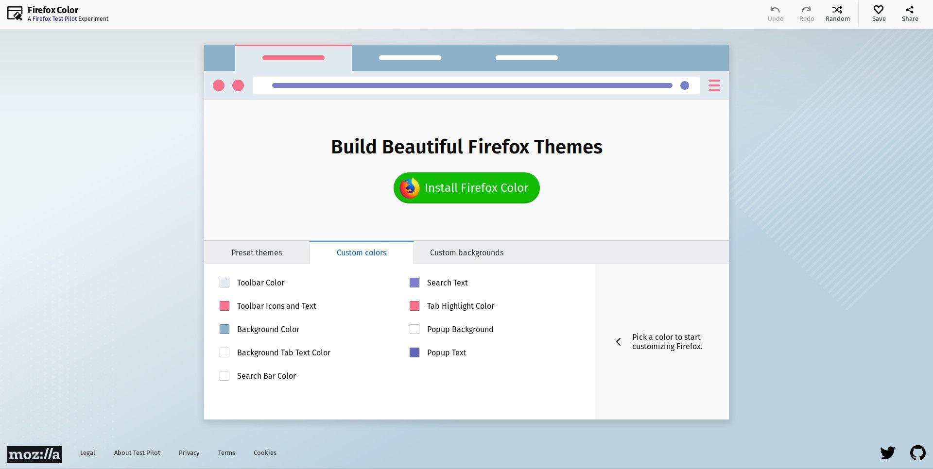 Firefox Color website.