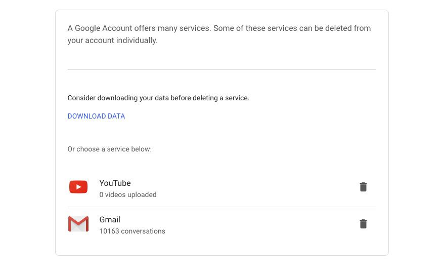 Delete confirmation screen on YouTube