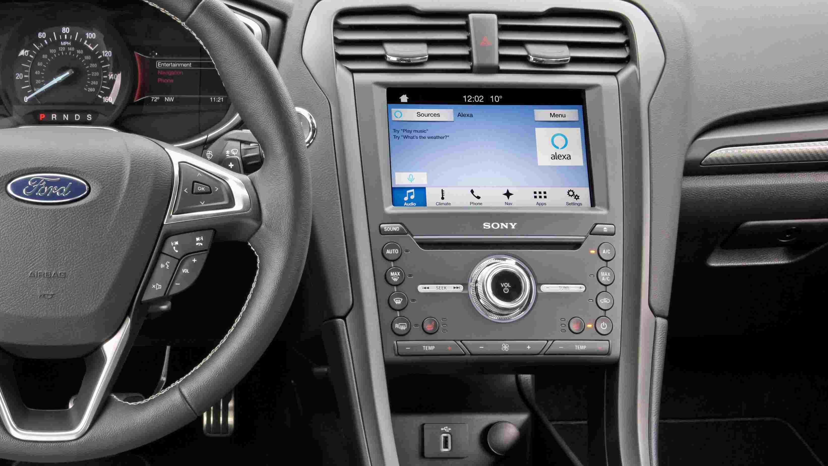 Alexa integrated into a Ford vehicle.