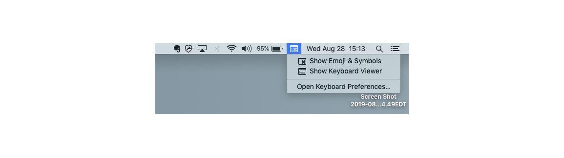 Open Keyboard Viewer on Mac iOS