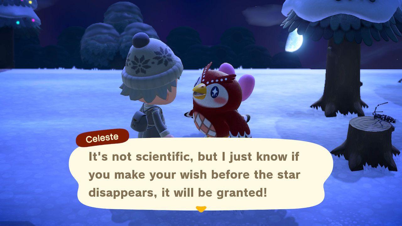 Animal Crossing: New Horizons Celeste original screenshot
