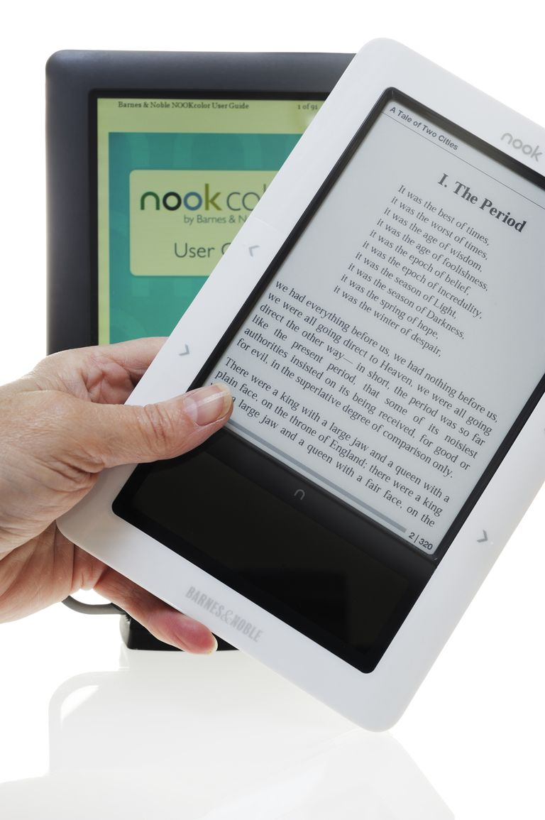 Two different models of Nook e-reader