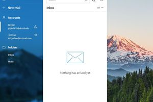 The Mail app in Windows 10