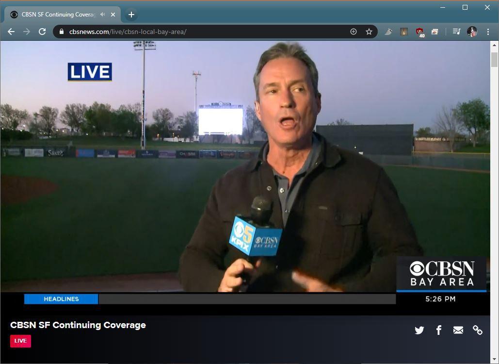 A screenshot of CBSN News.