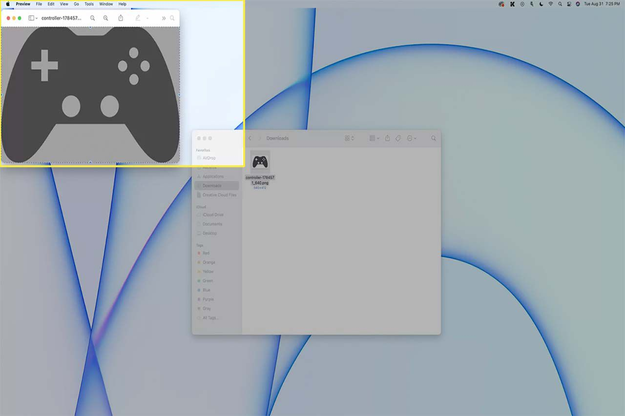 Edit highlighted in the menu bar on a Mac.