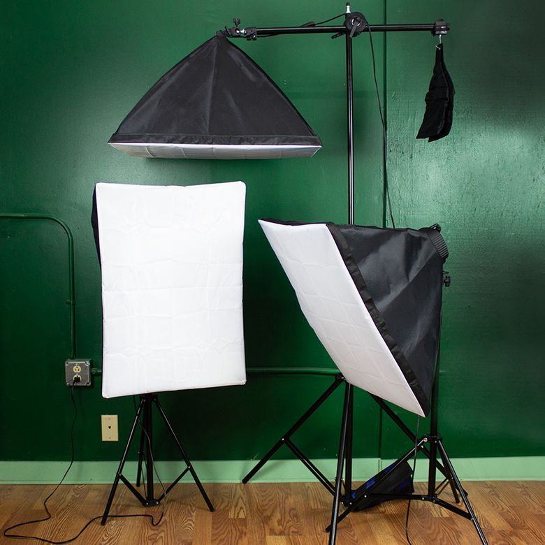StudioFX 2400W Large Softbox Lighting Kit