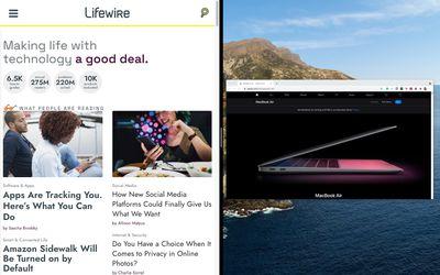 MacBook Air with Split Screen