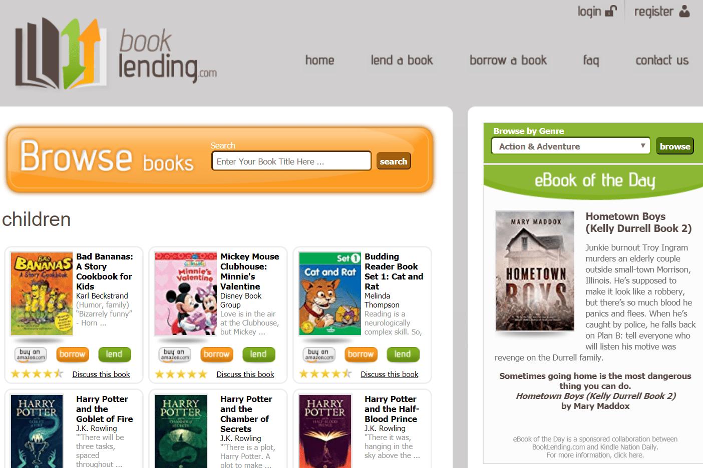 Free children's ebooks at Book Lending