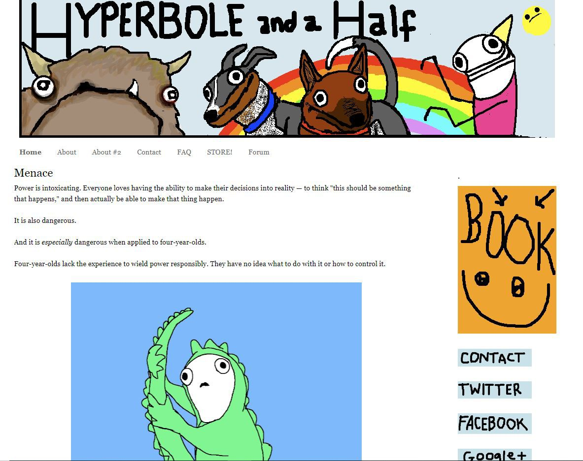 Hyperbole and a Half website