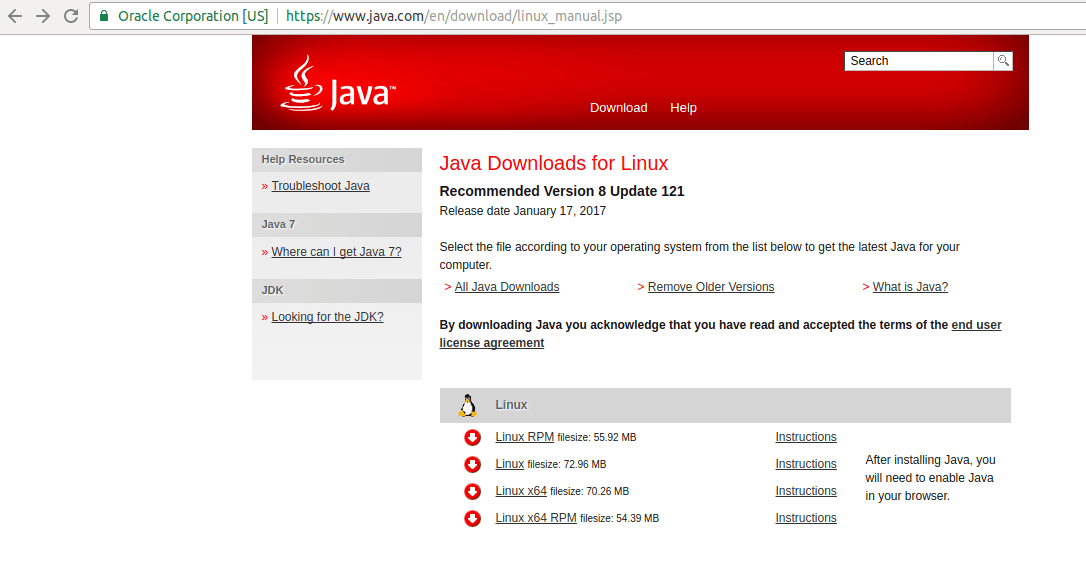 download java 7 64 bit ubuntu