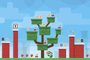 Tree and platforms in platform video game