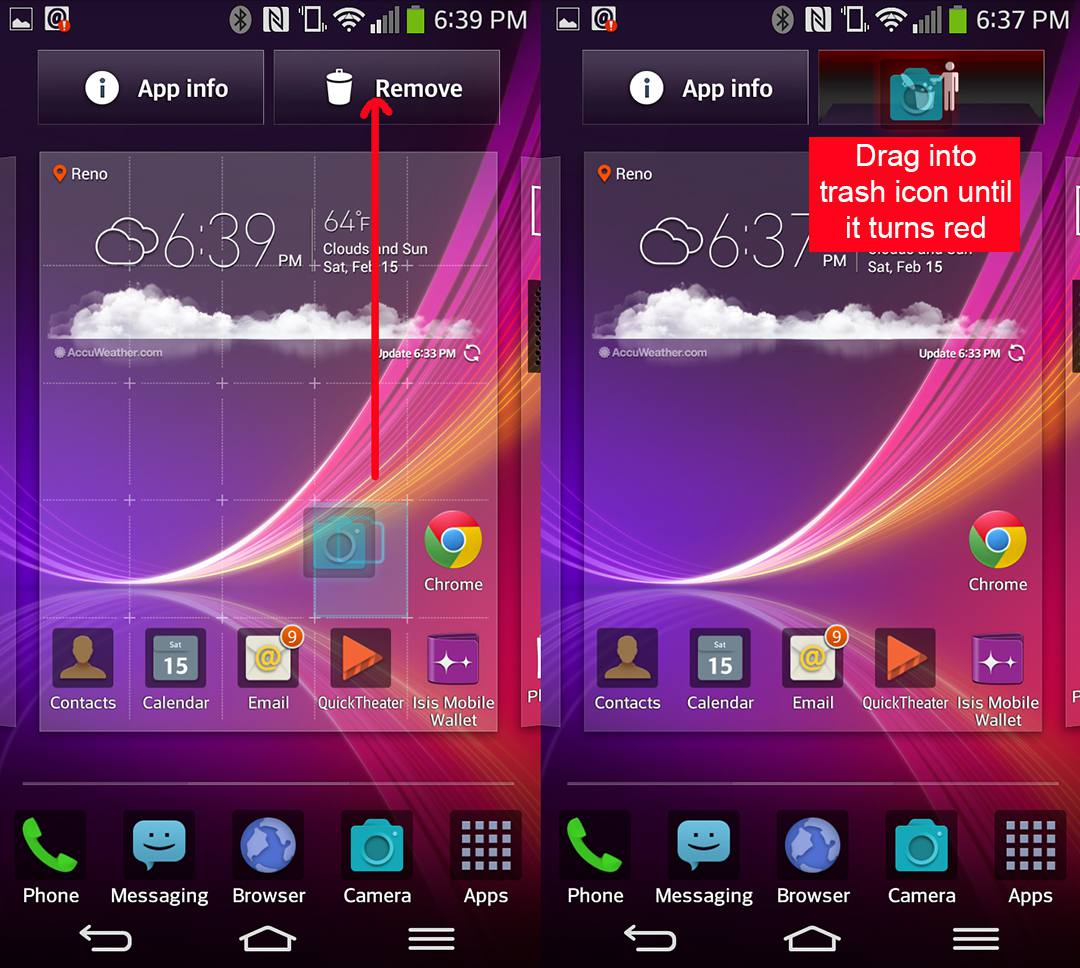 Add or Remove Apps on the LG G Flex Home Screen