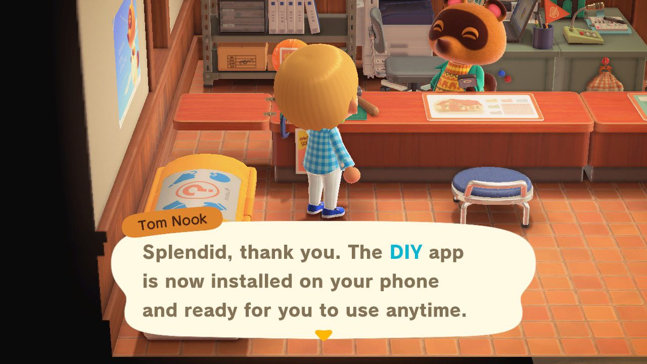 Animal Crossing new resident unlocking DIY recipes