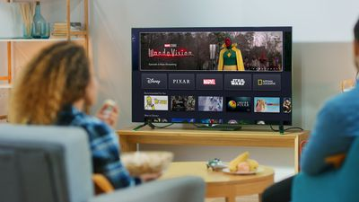 Disney Plus on Fire TV on a television.