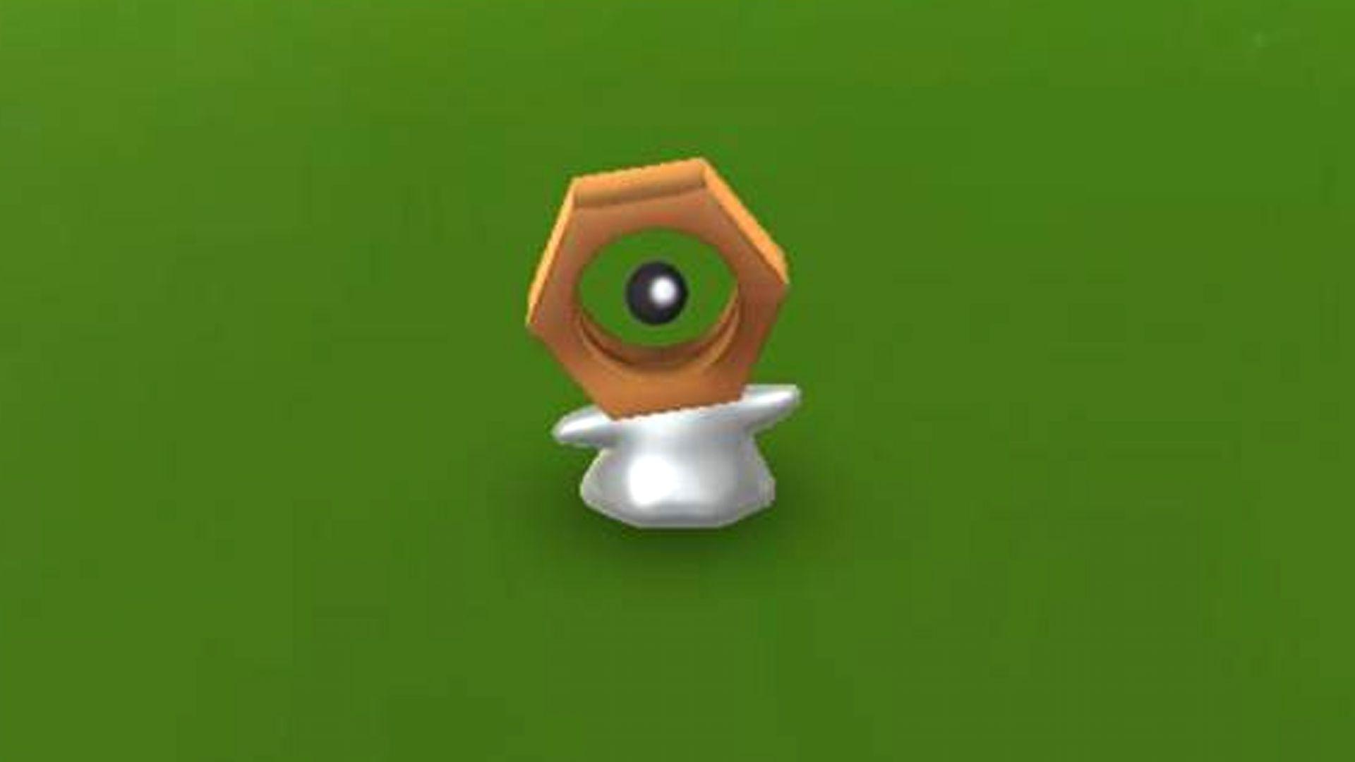 A shiny Meltan in Pokemon Go.