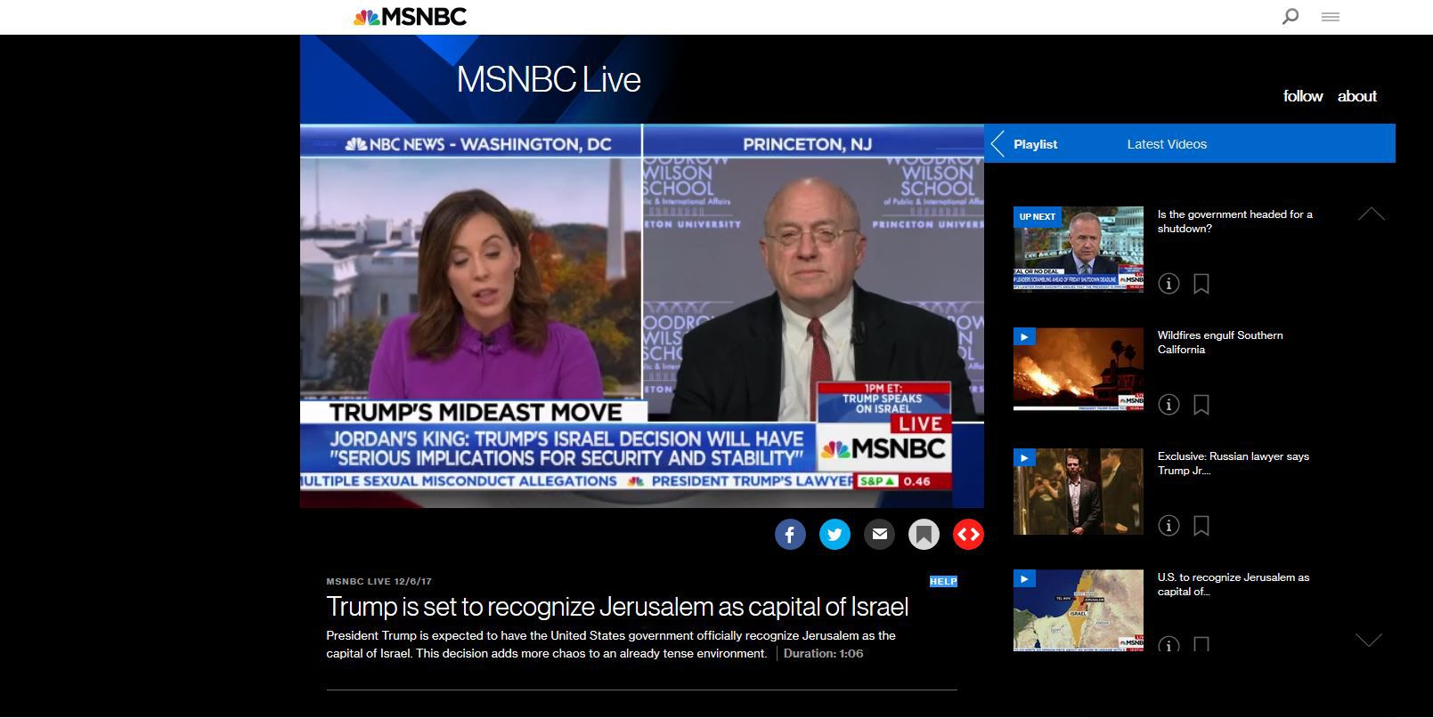 how to watch msnbc online
