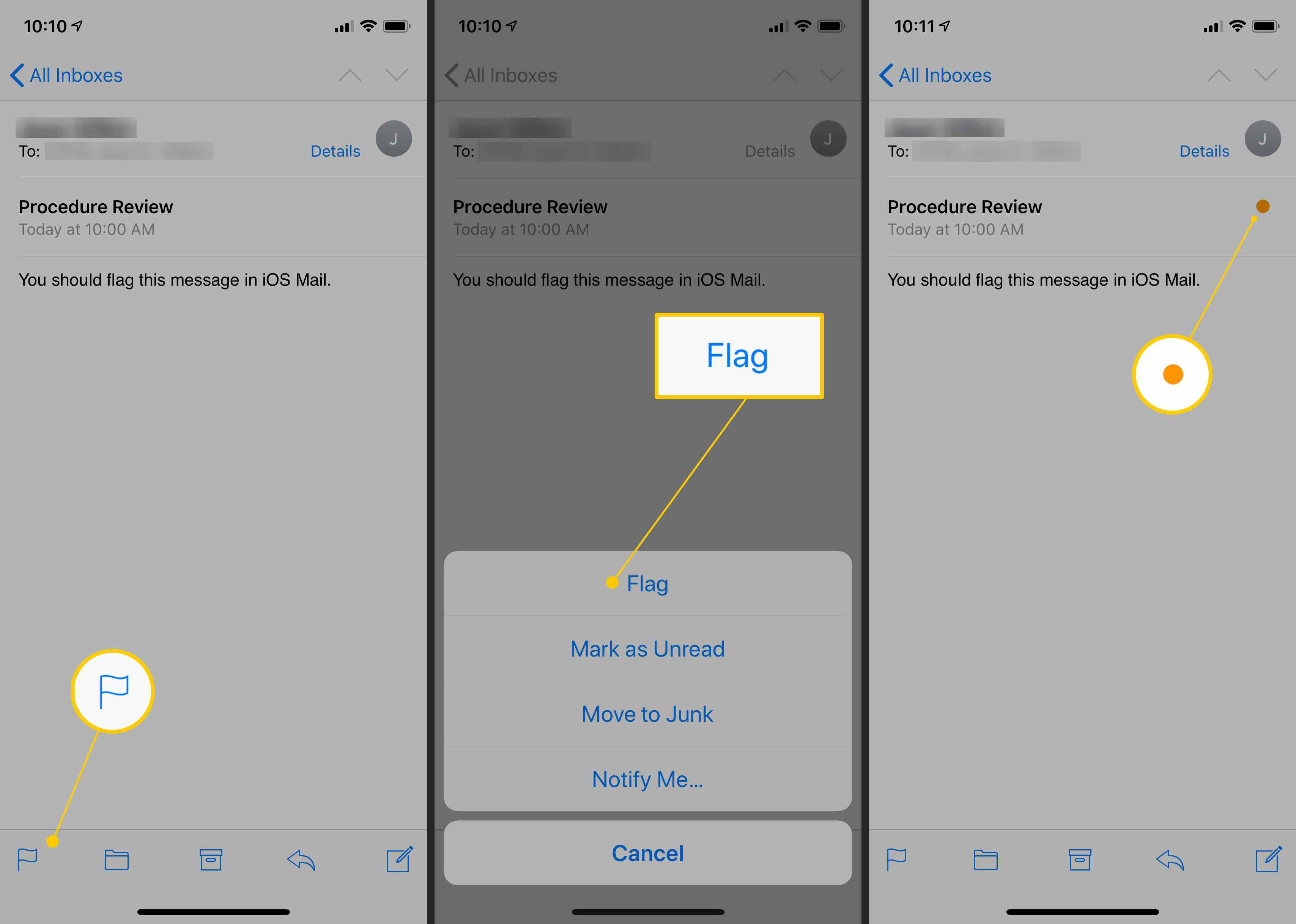 How to Flag Messages in the iPhone and iPad Mail App
