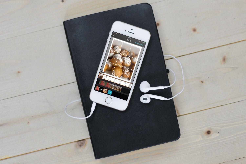 PicPlayPost on iPhone with headphones