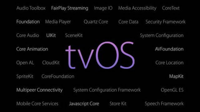 tvOS 10 Feature keynote screen