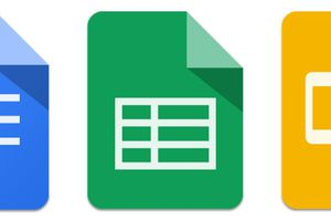 The Google suite of productivity apps