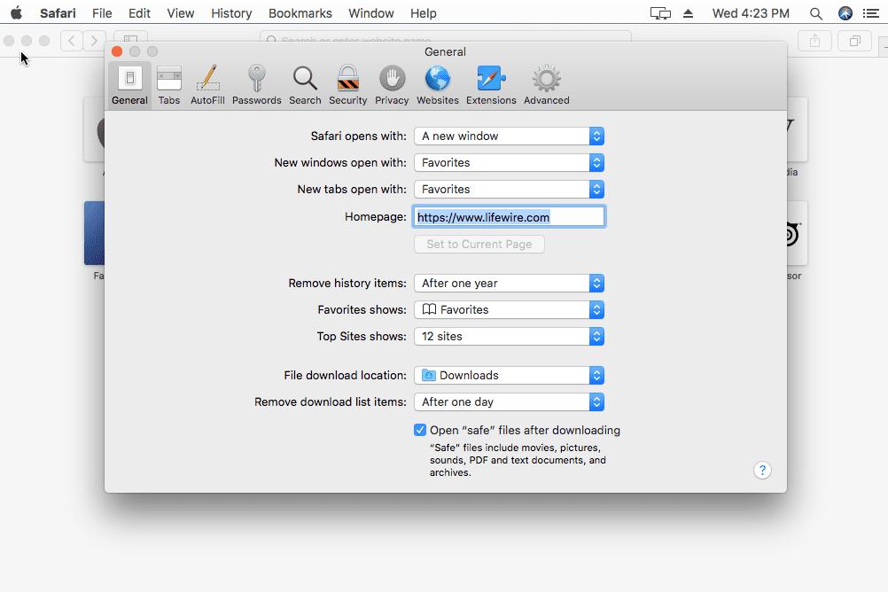 how to change search language in safari