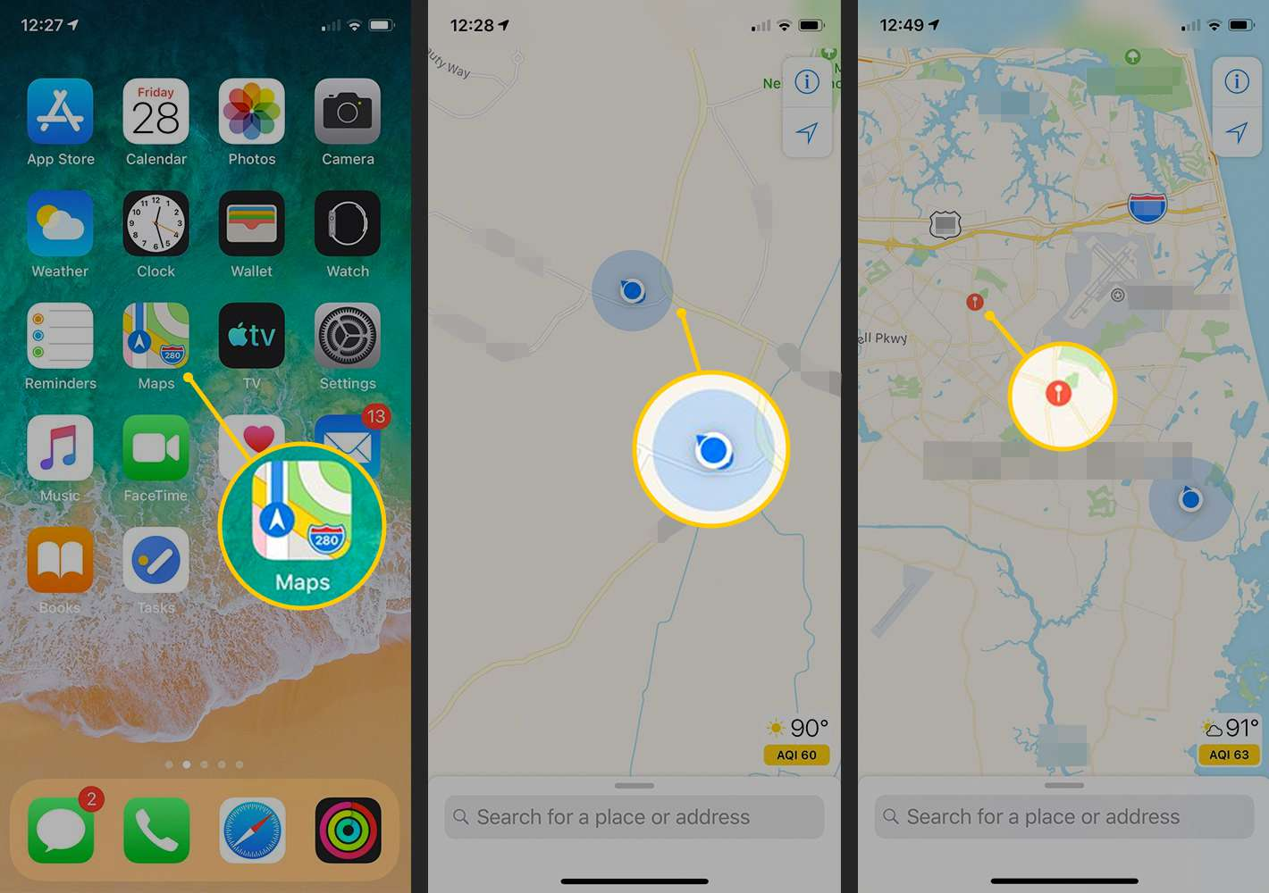 How to Drop a Pin in Apple Maps on iPhone and iPad Can You Drop A Pin On Google Maps on