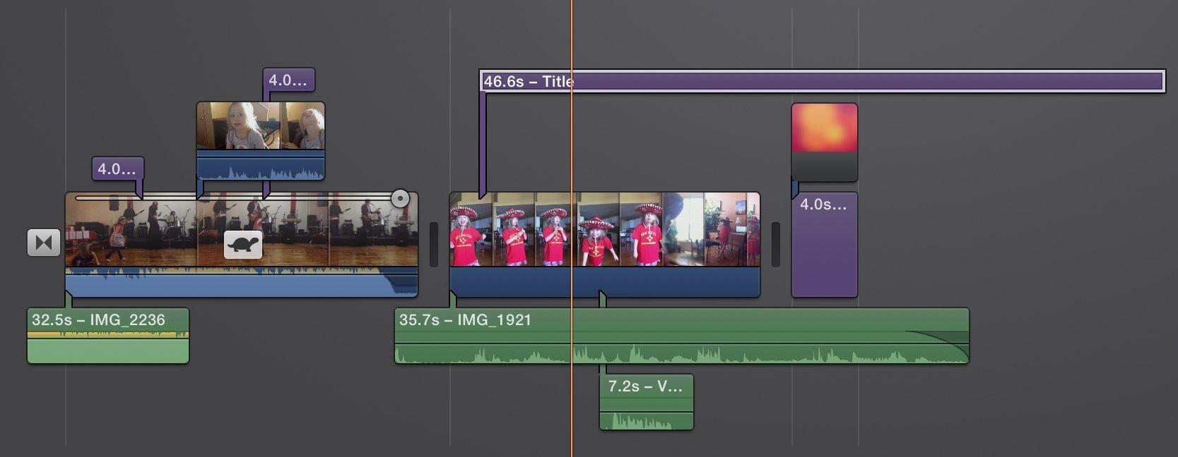 Adding titles to iMovie