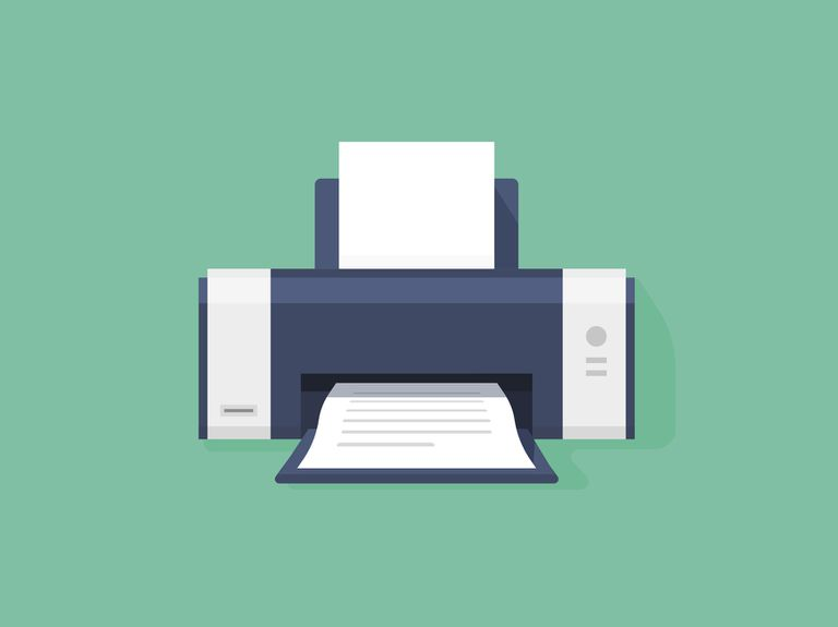 illustration of a home printer