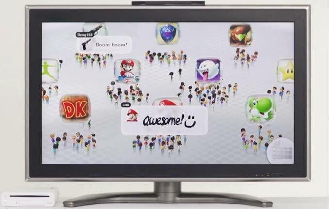 Nintendo Wii U Homescreen