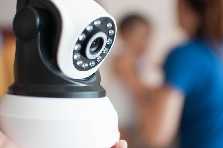 An indoor security camera with infrared technology